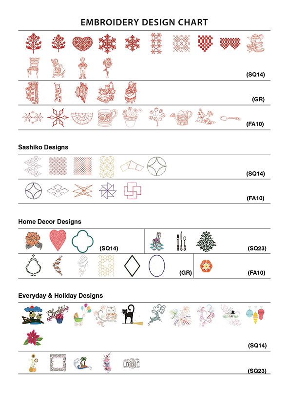 embroidery design chart